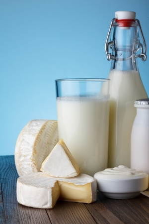dairy product: Dairy products close-up Stock Photo