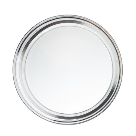 Clean zavřel prázdnou Perti jídlo izolovaných na bílém, pohled shora