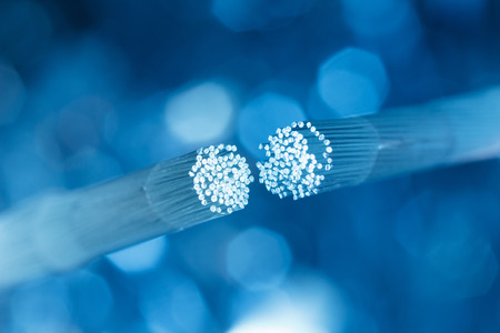 fiber optic: Optic fiber cable connecting