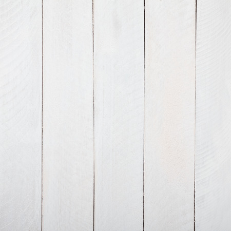 Vintage white wooden table top view photo