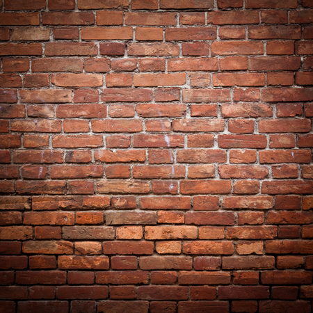 stucco background: Old grunge red brick wall texture