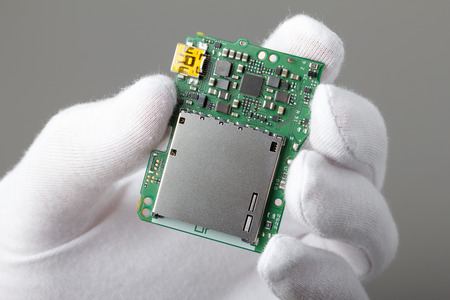 image size: Electronic board with components, new technology or repair concept