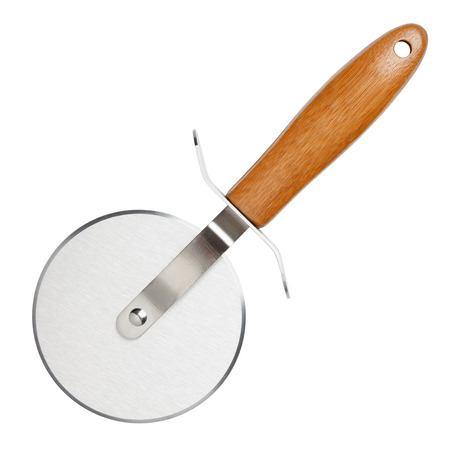 Pizza cutter knife isolated on white