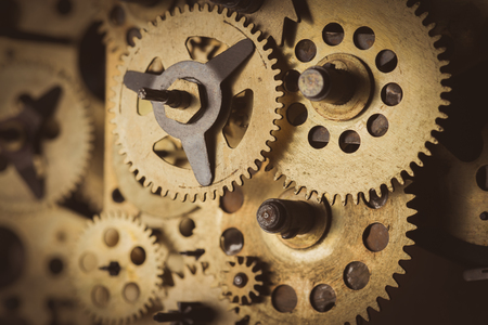 Gears and cogs macro close up