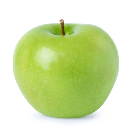 Ripe green apple isolated on white background