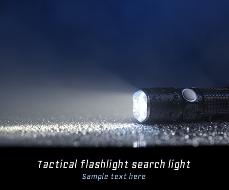 tactical: Tactical waterproof flashlight with place for text