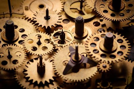 Oude toestellen en radertjes van oud mechanisme macro Stockfoto