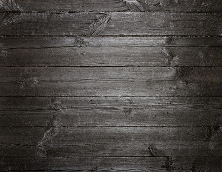 Black dark painted old wood texture background Stock Photo