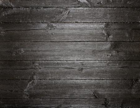 Zwarte donker geschilderde oude houten textuur achtergrond