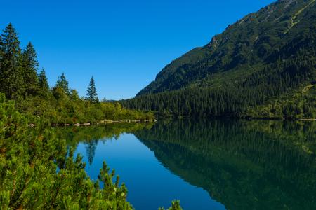 oko: Lake Morskie oko at Polish tatras mountains