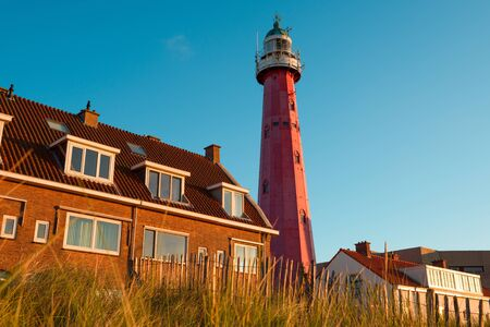 scheveningen: Scheveningen Lighthouse in Netherlands