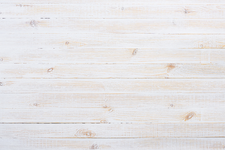 White painted old wooden planks table texture Reklamní fotografie - 74955619