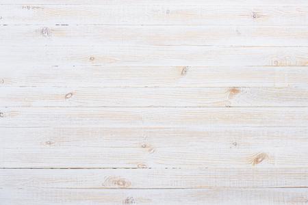 Witte geschilderde oude houten planken tafel textuur Stockfoto
