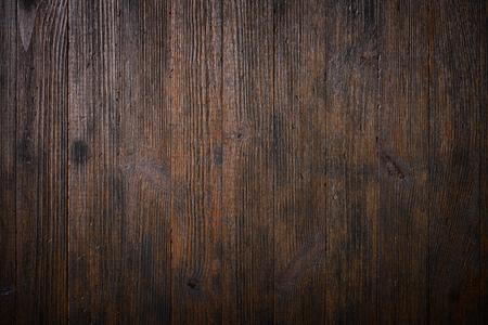 暗い古い木製のテーブル テクスチャ背景平面図