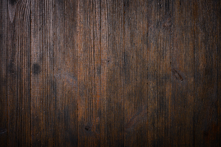 Dark old wooden table texture background top view