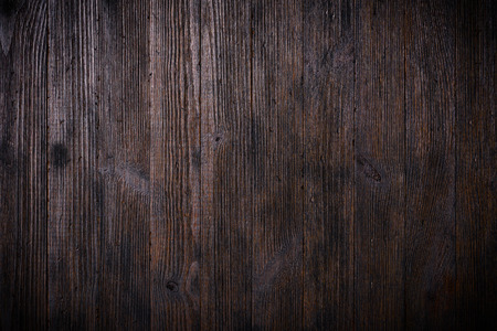 Dark vintage wooden table texture background top view
