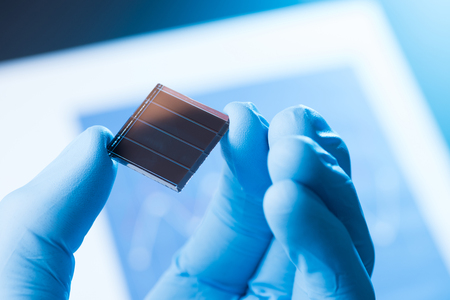 New solar cell research concept Stock Photo