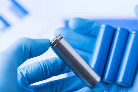 New improved battery research concept Stockfoto