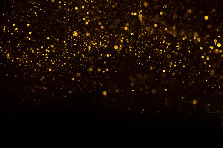 Fond de bokeh de pluie de poussière d'or abstrait unique Banque d'images