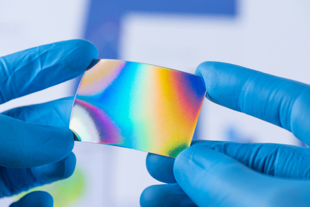 Material of new coating with improved properties scientific research Stock Photo