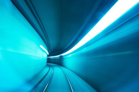 Rail de vitesse de mouvement de tunnel de métro
