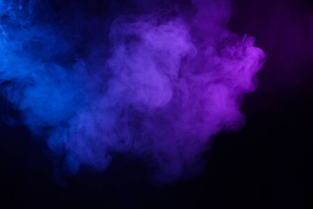 Smoke cloud pink and blue abstract dark background
