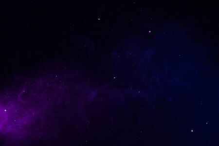 Space background with realistic spacedust and shining stars. Magical colorful universe abstract backdrop.