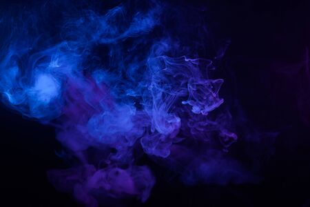 Clouds of blue smoke abstract background