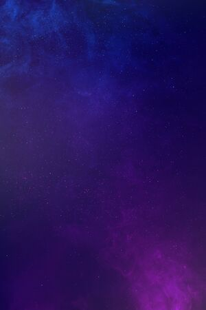 Colored smoke and glitter shiny galaxy abstract background Imagens