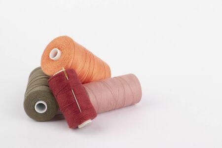 Colored threads 免版税图像