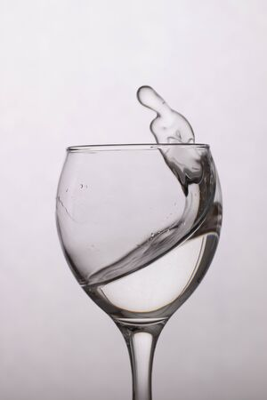 Clear water in a glass
