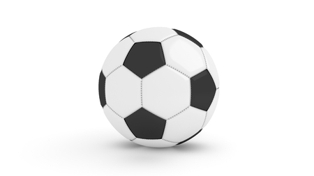 ball game: Football soccer isolated white background 3D Render Stock Photo