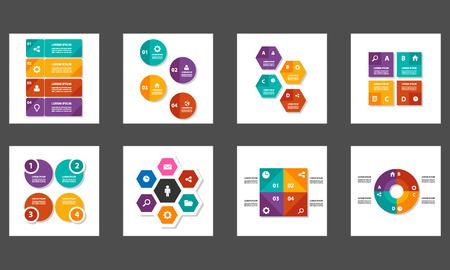 packs: 8 colorful multipurpose Presentation template flat design set