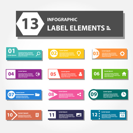 design process: label element for presentation advertising and marketing