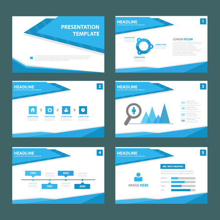 flyer: Blue polygon brochure flyer template for advertising marketing and presentation
