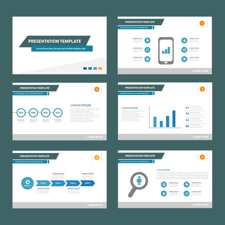 presentation template: Blue brochure flyer template for advertising marketing and presentation