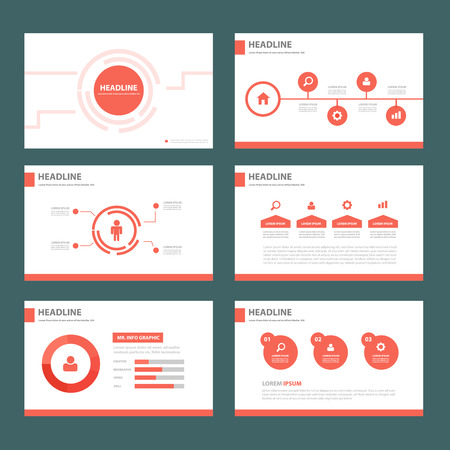 page layout: Red brochure flyer template for advertising marketing and presentation