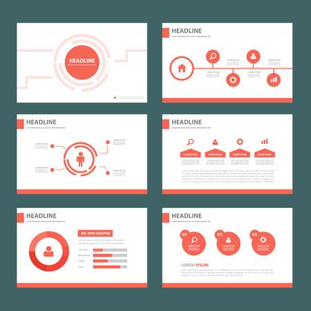 website design: Red brochure flyer template for advertising marketing and presentation
