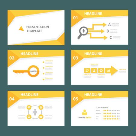 sjabloon: Gele brochure flyer sjabloon voor reclame marketing en presentatie
