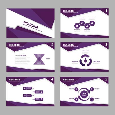 morado: Plantilla de volante folleto púrpura para la comercialización de la publicidad y la presentación Vectores