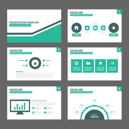 orange multipurpose presentation template flat design set for, Presentation templates