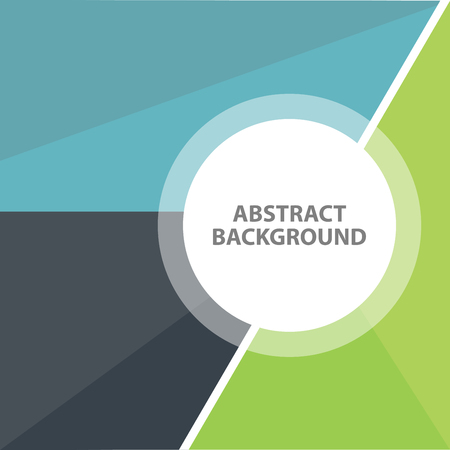 Blue Green black Business Abstract background. Presentation template flat design Çizim