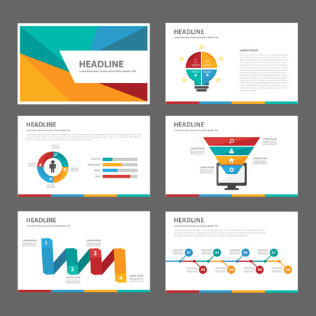 presentation icon: Colorful infographic element for presentation brochure flyer leaflet flat design