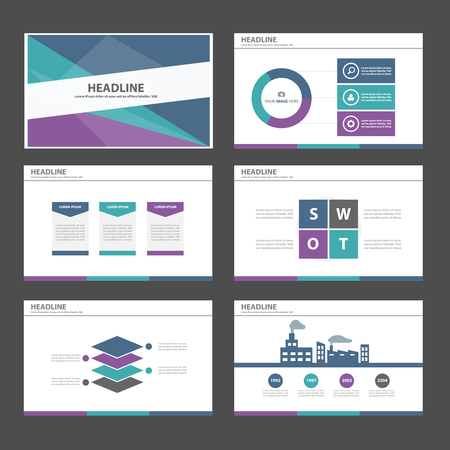 Purple green blue Multipurpose Infographic elements and icon presentation template flat design set for advertising marketing brochure flyer leaflet