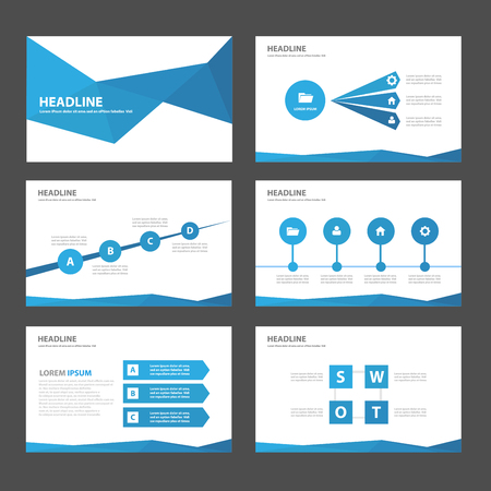 magazine: Blue Multipurpose Infographic elements and icon presentation template flat design set for advertising marketing brochure flyer leaflet