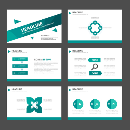 roadmap: Green polygon Multipurpose Infographic elements and icon presentation template flat design set for advertising marketing brochure flyer leaflet