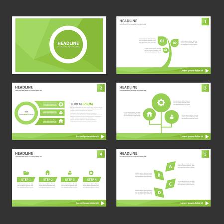 Leaf Green Multipurpose Infographic elements and icon presentation template flat design set for advertising marketing brochure flyer leaflet