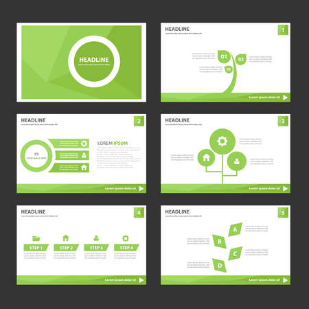 Leaf Green Multipurpose Infographic elements and icon presentation template flat design set for advertising marketing brochure flyer leaflet