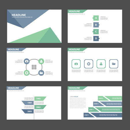 brochure template: Green and blue Multipurpose Infographic elements and icon presentation template flat design set for advertising marketing brochure flyer leaflet