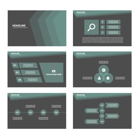 affari: Tema nero multiuso Infografica elementi e icona di presentazione modello di set design piatto per il marketing pubblicitario brochure volantino volantino